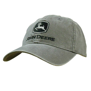 Men's Heavy Washed Canvas Cap in Charcoal