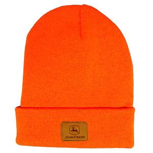 John Deere Men's Beanie In High Visibility Orange