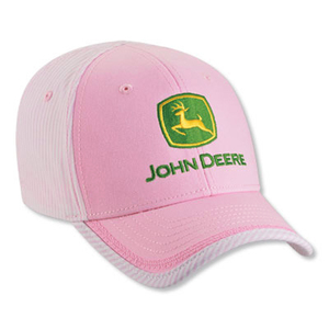 John Deere Youth Pink and White Conductor Stripe Cap