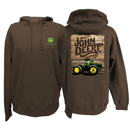 Mens Brown Pullover 'Quality Equipment' Theme Graphic