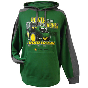 John Deere Green And Charcoal Men's MEGA-HOOD Pull Over
