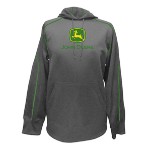 John Deere Men's Sports Polymesh Hooded Pullover
