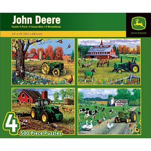 4 Pack 500 Piece Puzzle Set