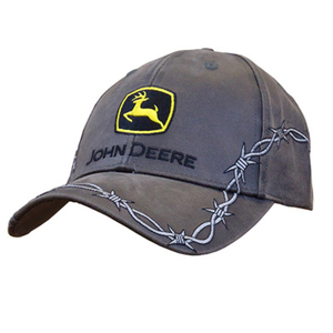 Men's Gray Cap With Silver Barbed Wire Details