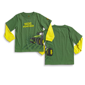 Toddler Boys Long Sleeve T-Shirt- Deere Powered