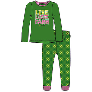 Toddler Green Live Love Farm Pajamas