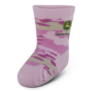 Infant Pink Logo Crew Sock