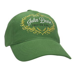 Youth Girls Green Tractor Girl Baseball Cap