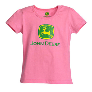Infant Short Sleeve Pink Tee With Logo