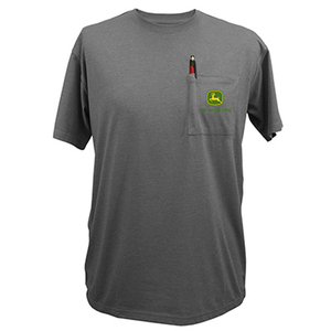 Men's Gray Short Sleeve Pocket Tee