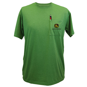John Deere Men's Green Short Sleeve Pocket T-Shirt
