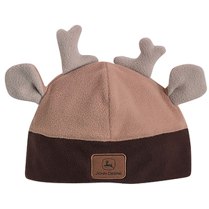 Brown Toddler Antler Beanie