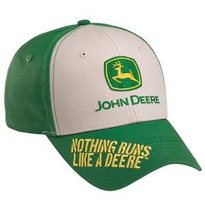Tan And Green Nothing Runs Like A Deere Cap