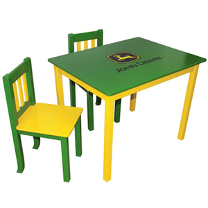 Green Table with Two Chairs