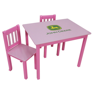 Pink Table with Two Chairs