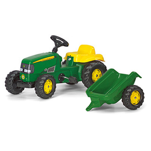 John Deere Kid Pedal Tractor With Trailer