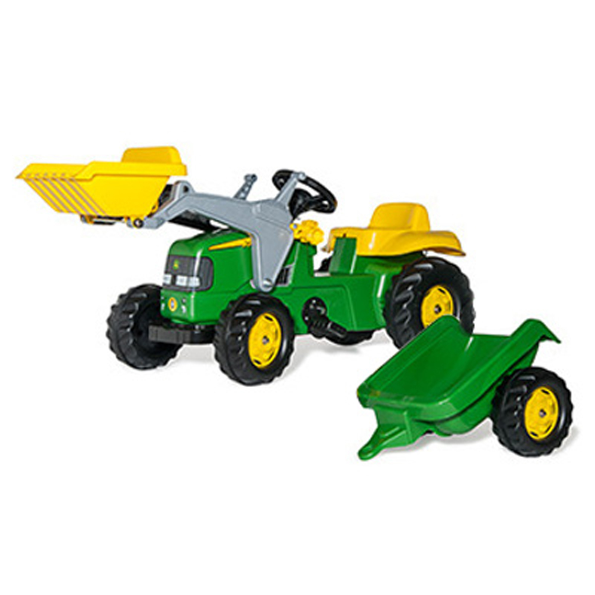 John Deere Kid Pedal Tractor With Loader Ride Ons Wagons Toy