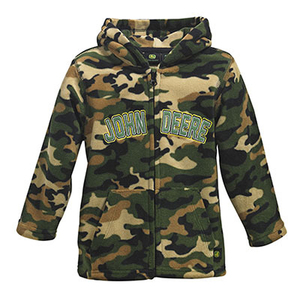 Boys Microfleece Camouflage Zip Jacket