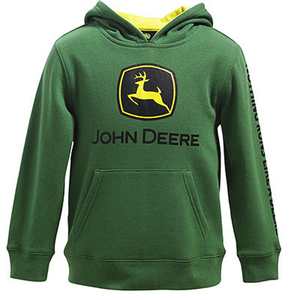 Boys Core Green Pull Over Hooded Sweatshirt