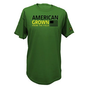Men's American Grown John Deere Green Flag Tee