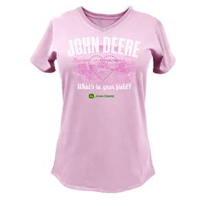 "Women's Pink ""What's In Your Field"" T-Shirt"