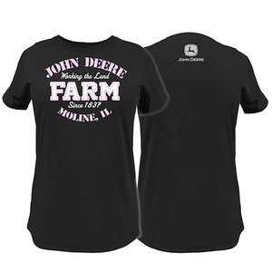 Women's Black John Deere Farm T-Shirt