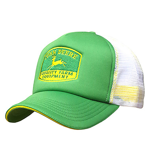 Green And White Foam Front Trucker Cap