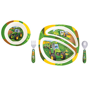 4 Piece Johnny Tractor And Friends Dish Set