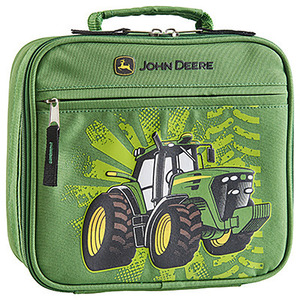 Green Lunch Box With Tractor