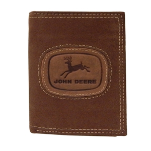 Distressed Leather Tri-Fold