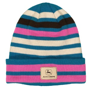 Ladies Multi-Stripe Cuffed Beanie