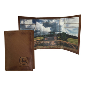 Tri-Fold Wallet with Tractor Scene