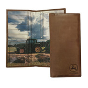 Checkbook Holder with Tractor Scene