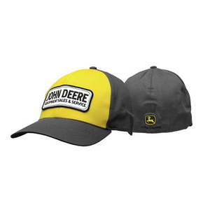 Mens Charcoal Cap With John Deere Patch