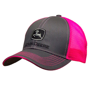 Womans Charcoal And Pink JD Logo Cap