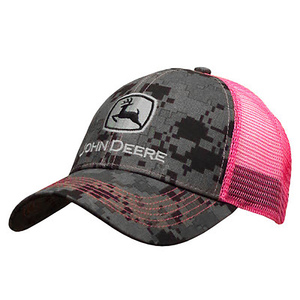 Womans Charcoal Camouflage And Pink Logo Cap