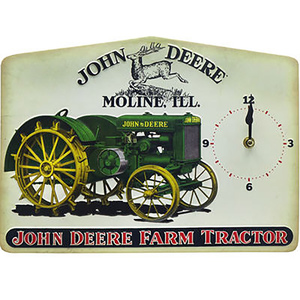 Farm Tractor Tin Clock