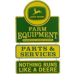 Farm Equipment Linked Tin Sign