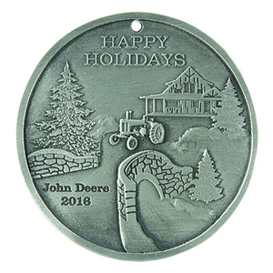 2016 John Deere Pewter Holiday Ornament