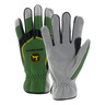 Men's Cowhide Gloves with Spandex Back