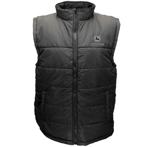 Men's Black Polyfill Zip Vest