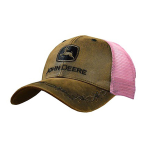 Womens Brown Oil Skin Front Cap
