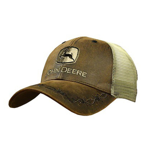 Men's Brown Oilskin Front Cap
