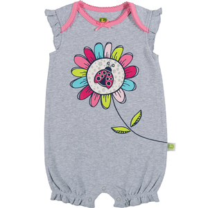 Lady Bug Flower Romper
