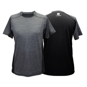 Men's Black & Charcoal Poly Reflective Tee