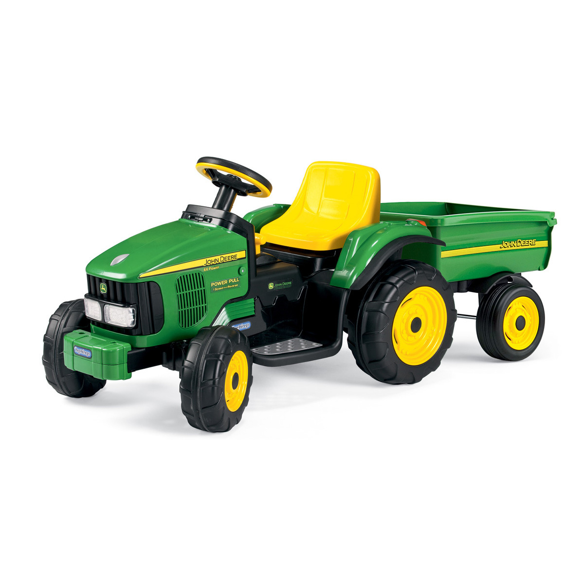John Deere Ride On Toys >> 6 Volt Power Pull Tractor With Trailer