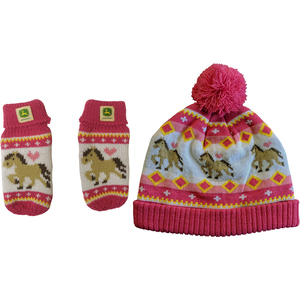Farm Pony Hat and Mitten Set