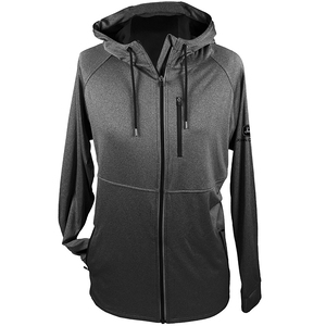 Mens Charcoal Full Zip Reflective Hoodie