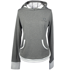 Womens Charcoal Poly Hoodie S-2XL