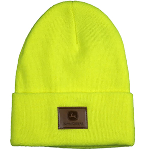 Suede Patch Beanie